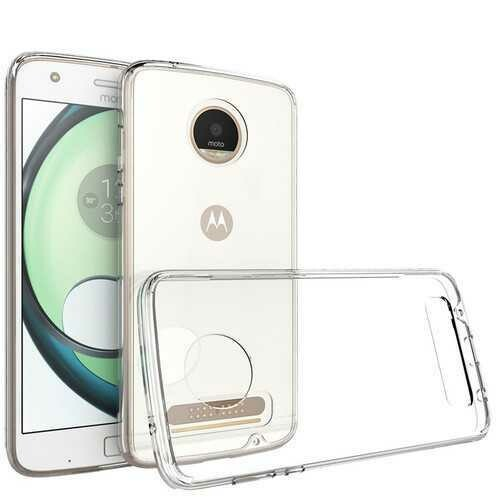 """Bakeey?""""? Transparent Shockproof Soft TPU Back Cover Protective Case for Lenovo Moto Z2 Play"""