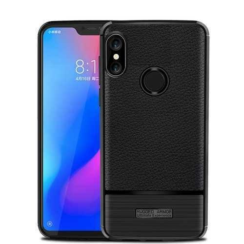 Bakeey Litchi Anti-fingerprint Silicone Protective Case For Xiaomi Mi A2 Lite / Xiaomi Redmi 6 Pro