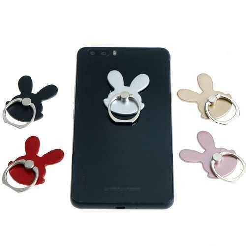 Universal Cute Rabbit Foldable Finger Ring Holder Desktop Stand For Samsung Xiaomi Mobile Phone