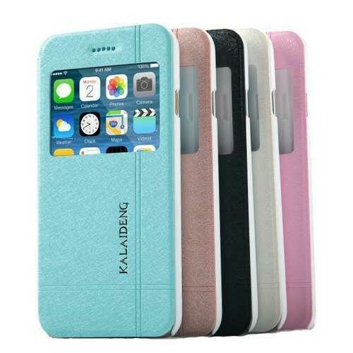 KLD Window View PU Leather Case For iPone 6 6s