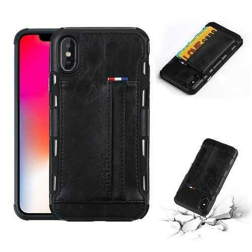 PU Leather Multi-card Slot Protective Case for iPhone X & 6/6Plus & 7/7Plus & 8/8Plus