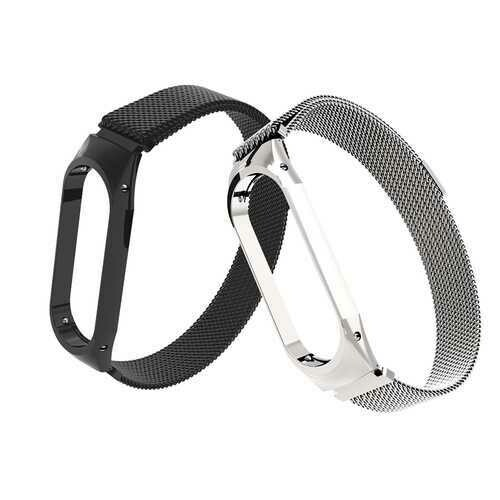 Bakeey Anti-lost Watch Band Milanese Magnetic Stainless Steel Watch Strap for Xiaomi Mi band3 Non-original