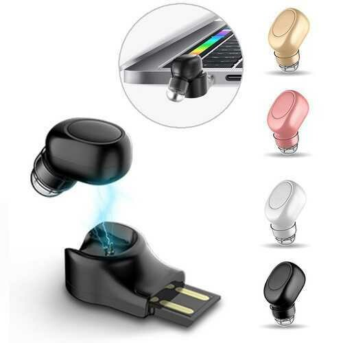 X11 Mini Wireless bluetooth Earphone Portable Handsfree Earbud with Magnetic USB Charger