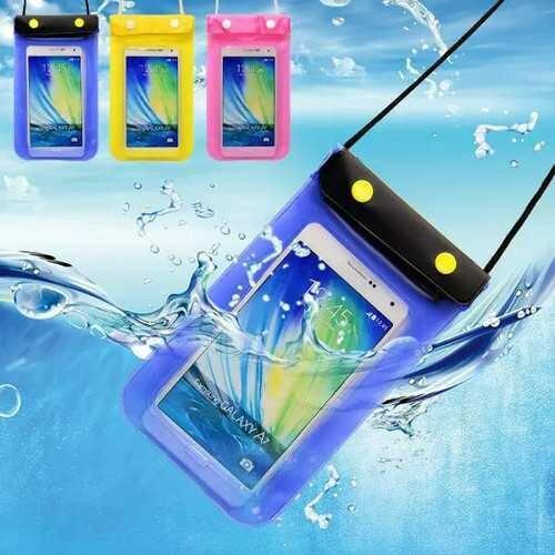 Universal 5 Inch Transparent Waterproof Fastener Bag Under Water Pouch