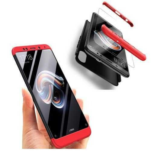 "Bakeey?""? 3 in 1 360?° Full Protective Case+Tempered Glass Screen Protector For Xiaomi Redmi Note 5 Non-original"