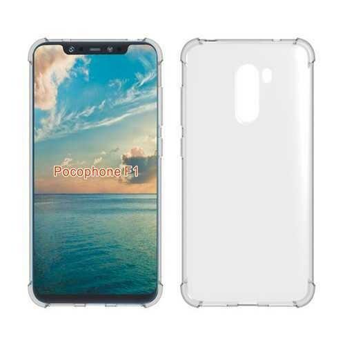 "Bakeey?""? Four-corner Shockproof Transparent Soft Back Cover Protective Case for Xiaomi Pocophone F1 Non-original"