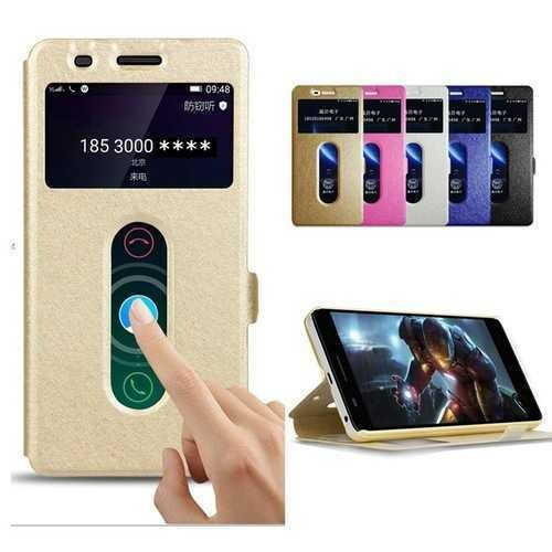 Bakeey Dual Window Flip Magnetic PU Leather Full Body Protective Phone Case For OnePlus 5T