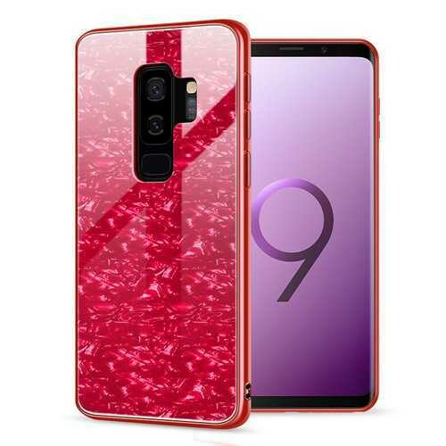Bakeey Shell Pattern Glossy Glass Soft Edge Protective Case for Samsung Galaxy S9/S9 Plus