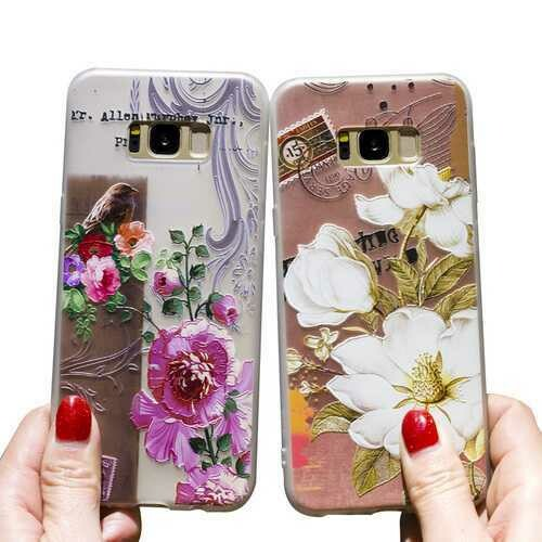 Bakeey 3D Relief Printing Flower & Birds Soft Protective Case for Samsung Galaxy S8 Plus