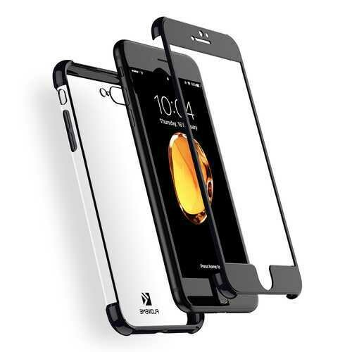 Floveme Plating 360?° Full Body Air Cushion Case With Tempered Glass Film For iPhone 7 Plus/8 Plus