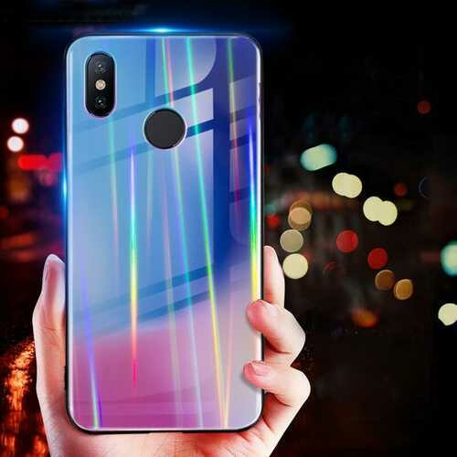 Bakeey Laser Gradient Bling Tempered Glass Shockproof Protective Case For Xiaomi Mi8 Mi8 6.21 inch Non-original