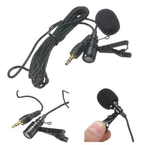 3.5mm High Sensitive 2.4M Tie Clip on Lapel Lavalier Mic Microphone