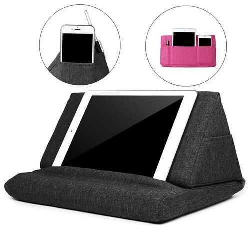 Universal Storage Pouch Bag Foldable Desktop Phone Stand Lazy Holder for Mobile Phone Tablet