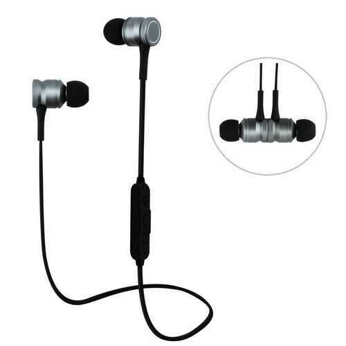 Bakeey H5 Wireless bluetooth Earphone Magnetic Adsorption Bass Headphone for iPhone Samsung Xiaomi
