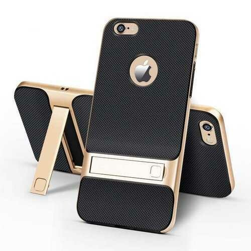 Bakeey Textured Anti Fingerprint Kickstand Case For iPhone 6 Plus/6s Plus 5.5