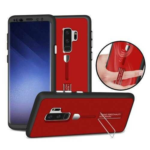 Bakeey Full Body Front & Back Cover Strap Grip Kickstand Case For Samsung Galaxy S9/S9 Plus