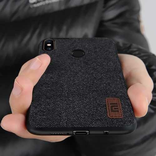 Bakeey Luxury Fabric Splice Soft Silicone Edge Shockproof Protective Case For Xiaomi Mi8 SE Non-original