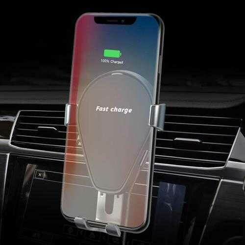 Bakeey 10W Fast Qi Wireless Charging Gravity Auto Lock Car Phone Holder Stand for iPhone 8 X