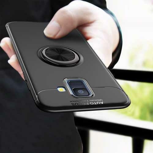 C-KU 360 Rotating Ring Grip Kicktand Protective Case For Samsung Galaxy A6 2018