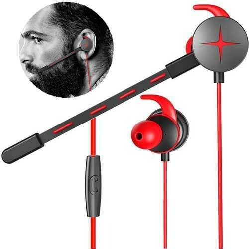 V7 Gaming Earphone Portable 3.5mm Waterproof Stereo Headphone with Pluggable Mic for Phone Laptop