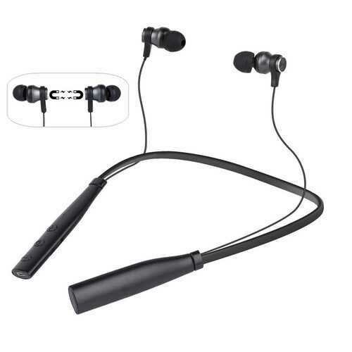 Wireless bluetooth Neckband Headphone Magnetic Adsorption TF Card Stereo Earphone Headset with Mic