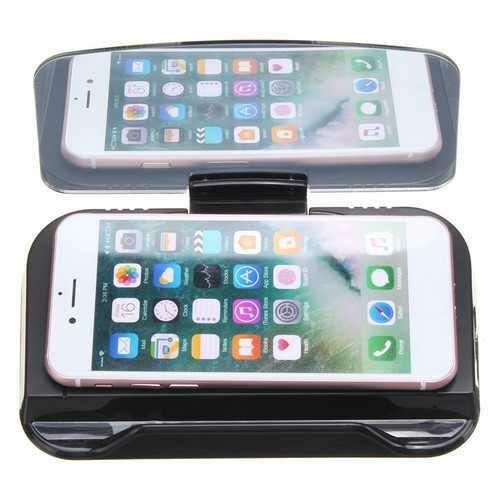 Universal Qi Wireless Charging Navigation Hud Display Car Dashboard Holder for Mobile Phone