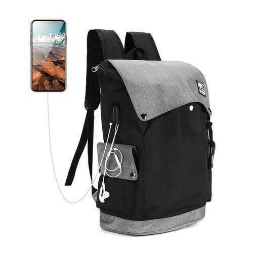 Laptop Backpack Travel Bag Student Bag With USB Charging Port