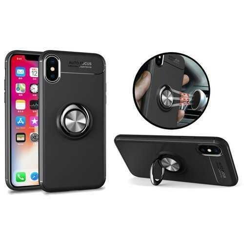 C-KU 360 Rotating Ring Grip Kicktand Case For iPhone X/8/8 Plus/7/7 Plus/6s/6s Plus/6/6 Plus