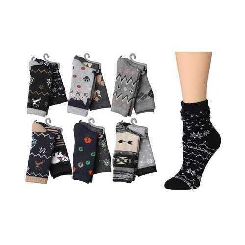 Case of [36] Women's Wool Blend Crew Socks - 2 Pair