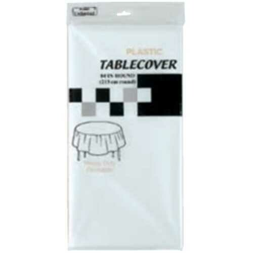 Case of [36] WHITE ROUND TABLE COVER