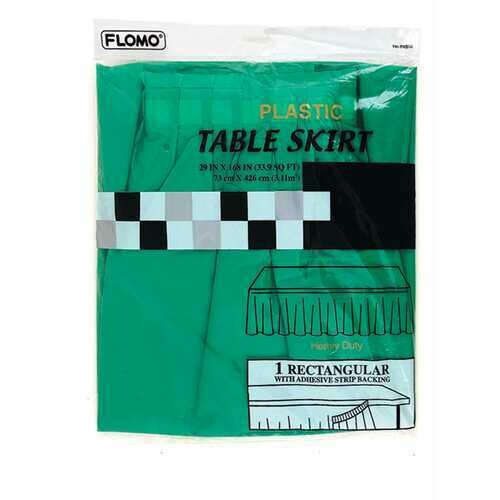 Case of [36] Holiday Green Table Skirt