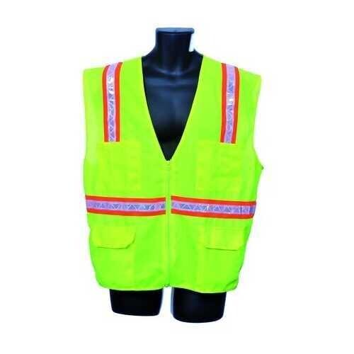 Case of [10] Green Surveyor Vest- Mesh Back 3XL