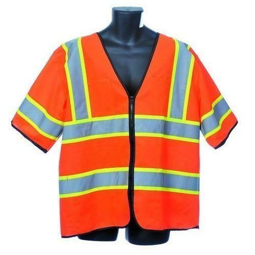 Case of [30] Orange Class III Safety Vest Extra Large
