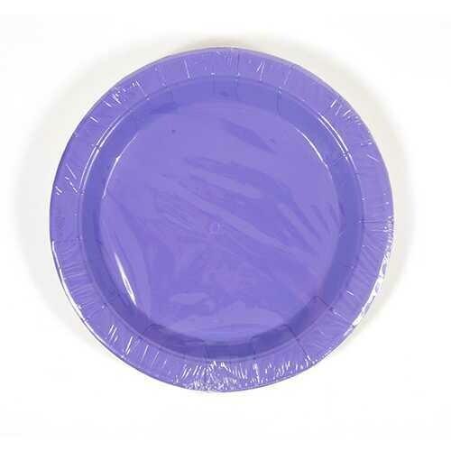 Case of [36] Hot Purple Dessert Plates (8 count)