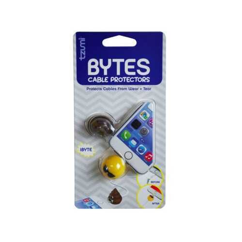 Cord BYTES 2 Pack Assorted Emoticon Cord Protectors ( Case of 48 )