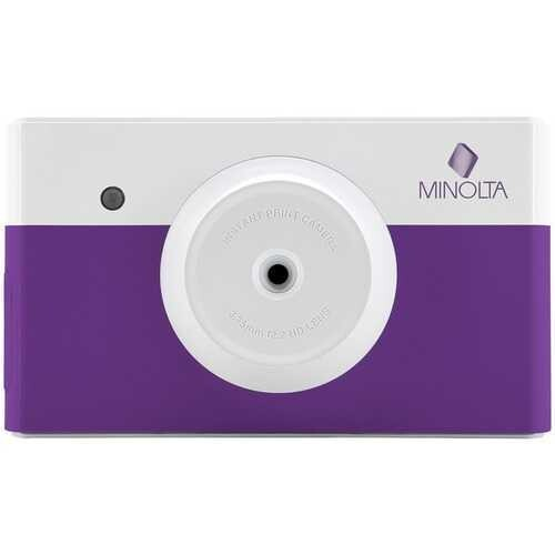 Minolta Instapix Instant-print Digital Camera (purple) (pack of 1 Ea)
