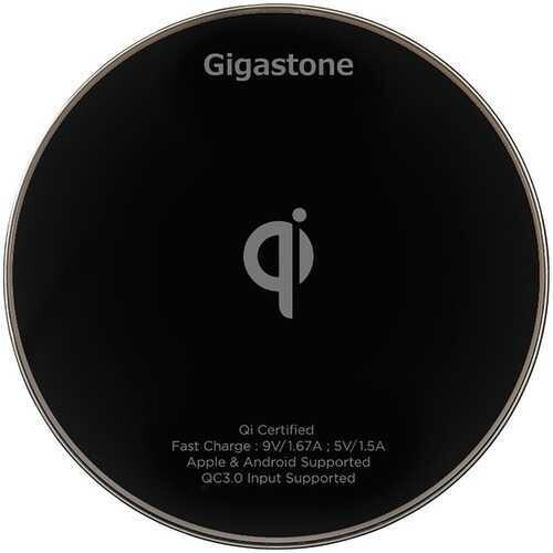 Gigastone Ga-9600 Qi Certified Fast Wireless Charger (black) (pack of 1 Ea)