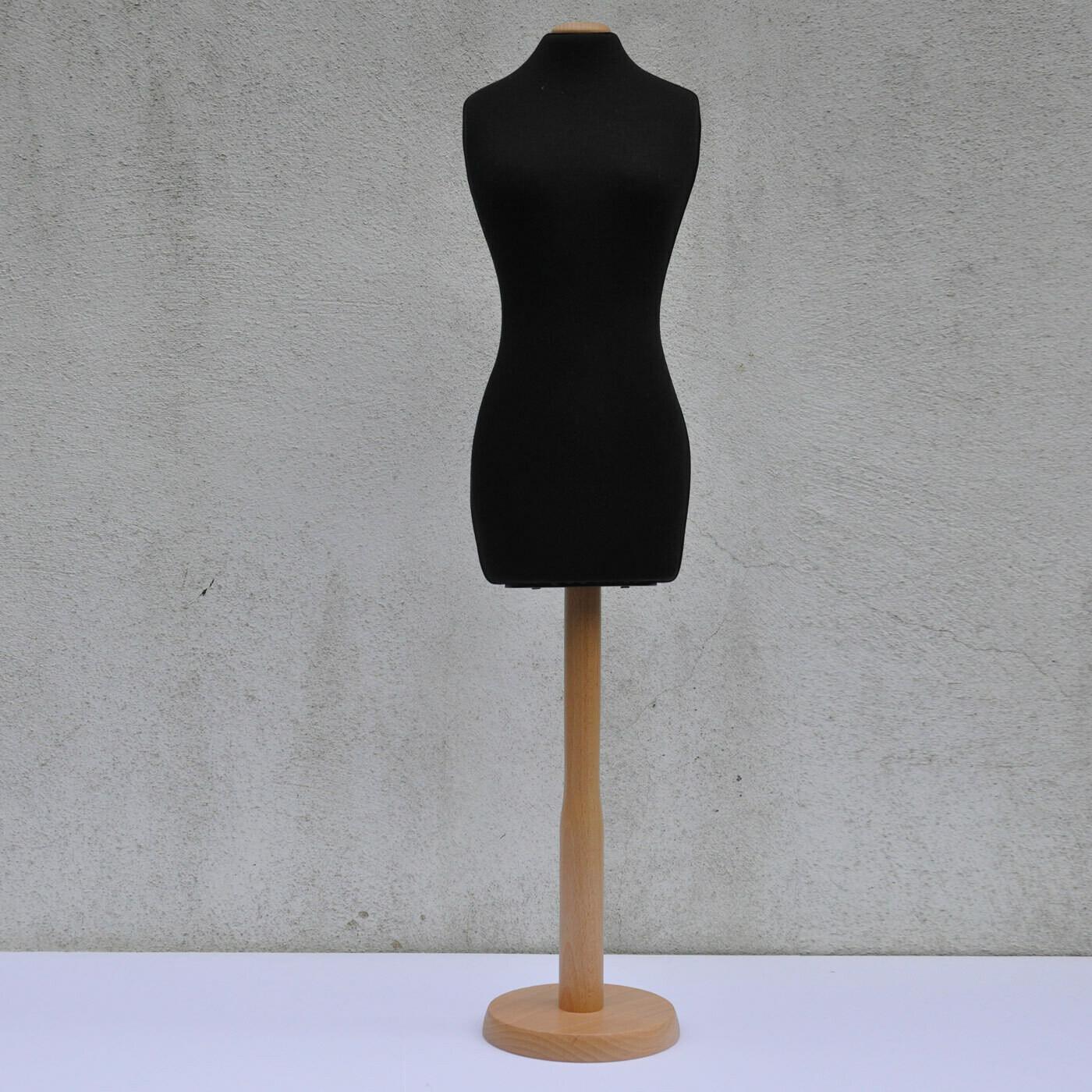 Black half scale mannequin