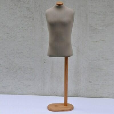 Beige man half scale mannequin