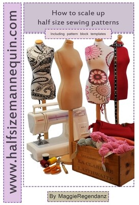 Digital download - How to scale up half size sewing patterns and basic blocks PDF booklet