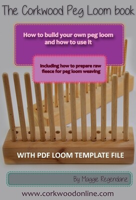 Digital download - How to build a peg loom and how to use it including hole spacing template PDF