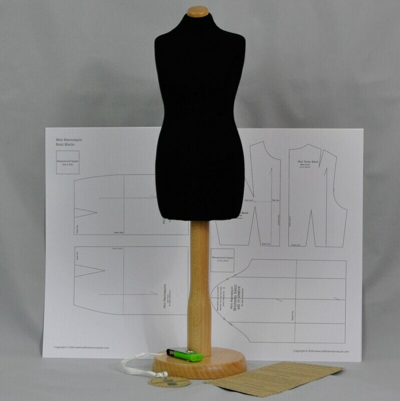 Black dressmakers Mini Mannequin