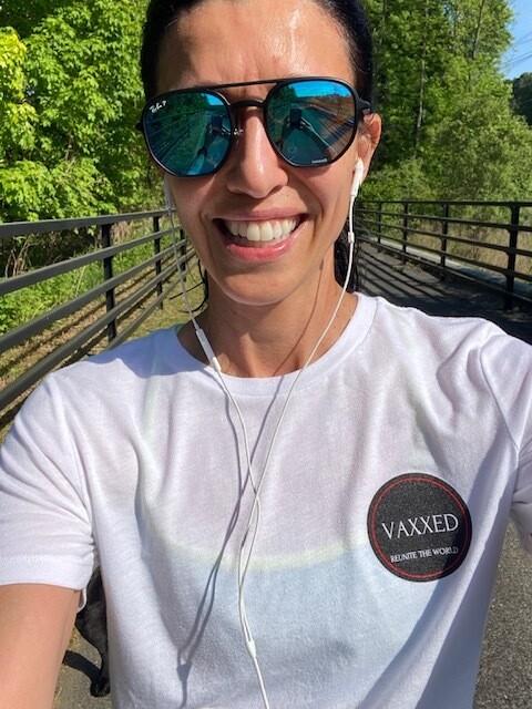 Vaxxed logo women t- shirt