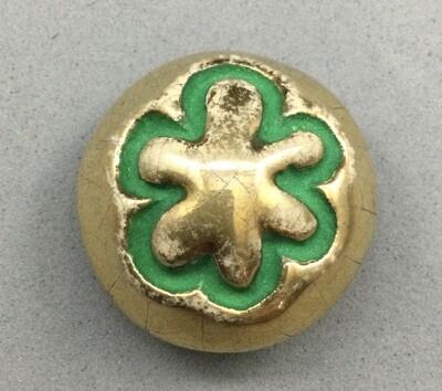 Line Vautrin Designer Pottery Button