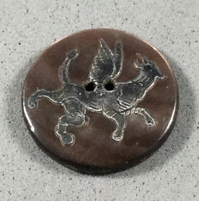 Fabulous Creature Silver Overlay on Shell