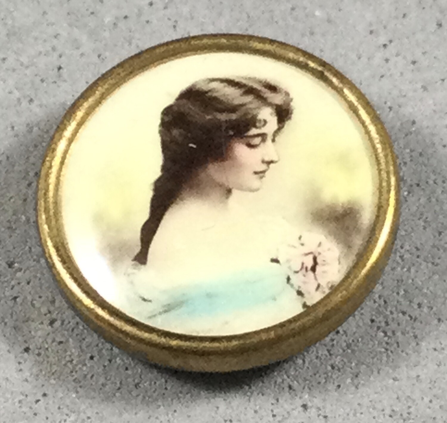 Pretty Lady Photo on Celluloid