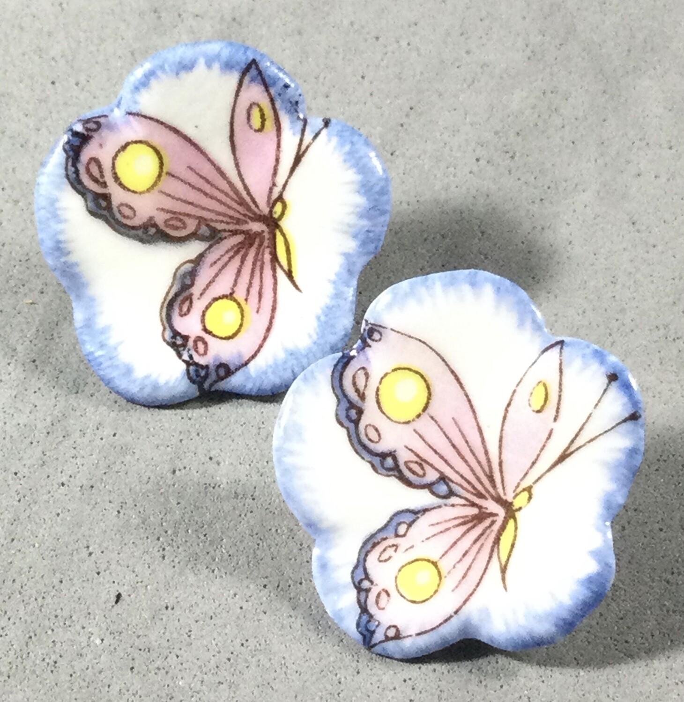 Pair of Mack Porcelain Butterflies
