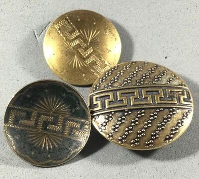 3 Greek Key Buttons