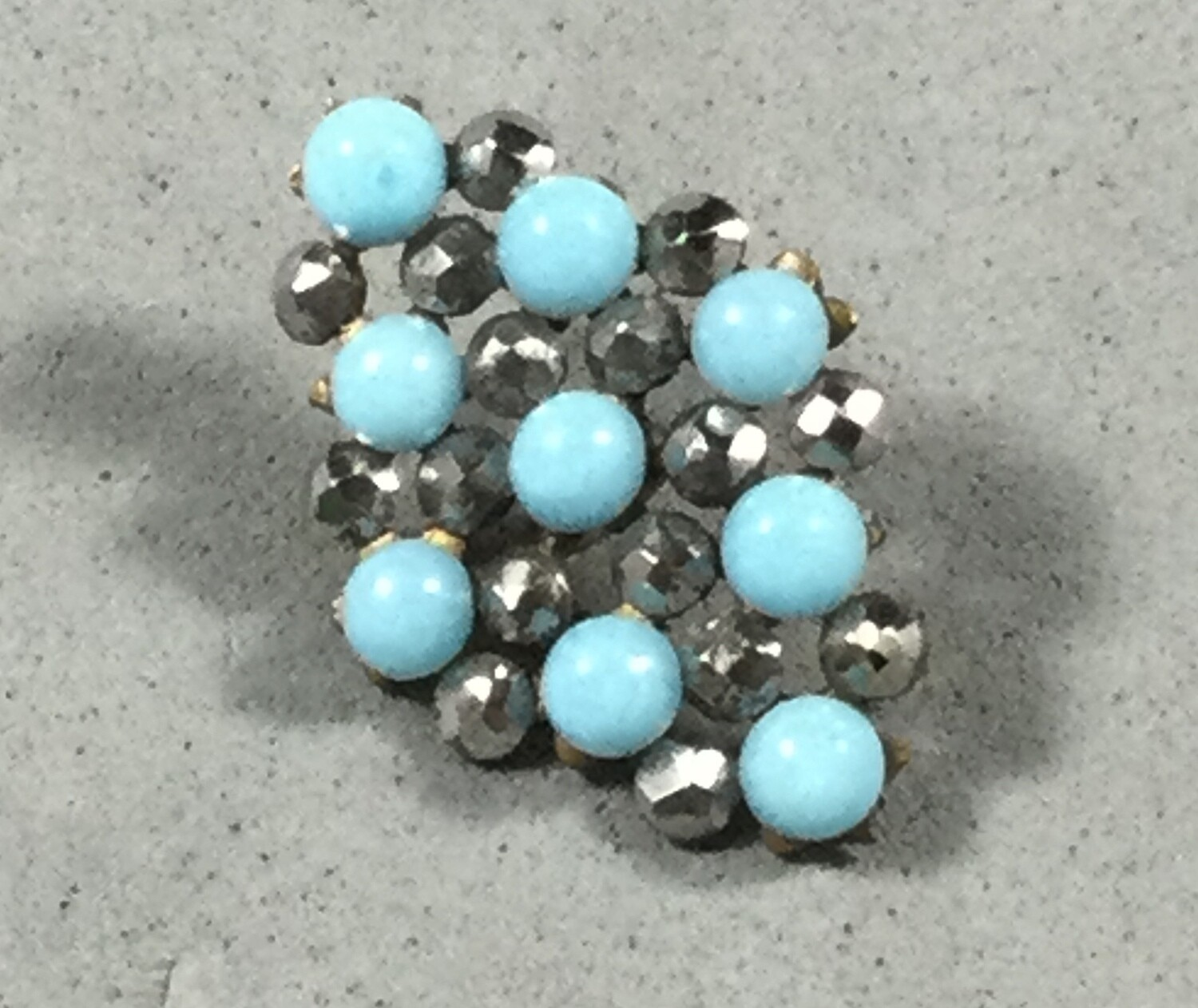 Turquoise Glass and Steel
