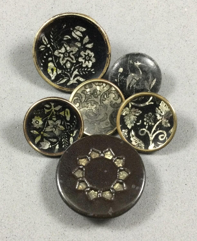 Group of Six Crystallized Tin